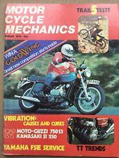 Motorcycle Mechanics Magazine - August 1975 - Guzzi 750 S3, Kawasaki S1 250.