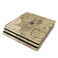 Skin Decal Cover Sticker for Sony PS4 Pro - LOTR Middle Earth Map