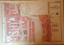 1955 HARLEM MANHATTAN W 151ST-157TH STREET NY G.W. BROMLEY PLAT ATLAS MAP 12 X17