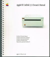 Apple II UniDisk 3.5 Owner's Manual Apple Computer 1985 Spiralbound Book