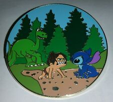 FANTASY LE 50 LARGE PIN WITH ARLO & SPOT FROM DISNEY THE GOOD DINOSAUR W/ STITCH