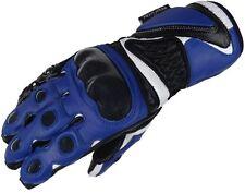 Bangla Motorradhandschuhe Motorrad Handschuhe Leder Quad Blau schwarz L
