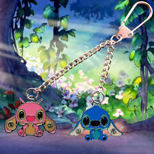 Disney Lilo & Stitch keychain /keyring with Stitch & Angel charms FREE UK POST