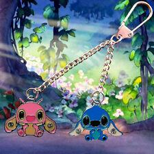 Disney Lilo & Stitch keychain /keyring with Stitch & Angel charms FREE UK POST