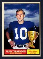 Fran Tarkenton '61 Minnesota Vikings Monarch Corona Rookie All Star #19
