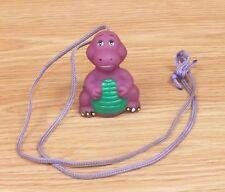 Unbranded Purple & Green Dinosaur Vintage Barney Style Soft Plastic Necklace