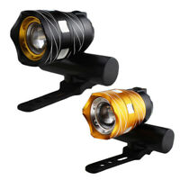 Luz delantera de bicicleta impermeable LED T6 recargable USB Lampara luz de I4A4