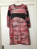 Roberta Freymann Womens Silk Patterned Dress Size S Good Condition