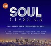 SOUL CLASSICS (2018) 60-track 3xCD set NEW/SEALED Marvin Gaye Aretha Franklin
