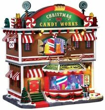Lemax Village Collection Christmas Candy Works with Adaptor  65164