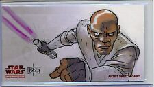 WINDU Topps STAR WARS CLONE WARS Widevision ANIMATOR SKETCH by BRIAN K O'CONNELL
