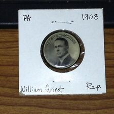 1908 PA William Griest for Congress Political Button Paperback Pinback CMy Store