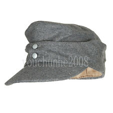 WWII GERMAN ARMY EM PANZER M43 M1943 FIELD WOOL CAP GREY L-33693