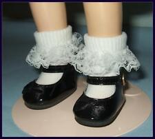 """BLACK Patent 2 x 1 inch Doll Shoes for Ideal P-90 14"""" Betsy McCall TONI"""