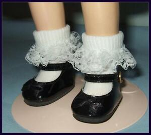 """BLACK 2-1/8"""" Patent Doll Shoes fit 13.5 Paola Reina 14.5"""" WELLIE WISHERS 16""""TONI"""
