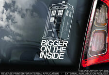 Doctor Who - Car Window Sticker - 'Bigger On The Inside' Tardis Sign Dr- n.Dalek