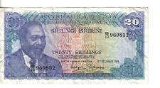 KENYA, 20  SHILLINGS, P#13a,1974