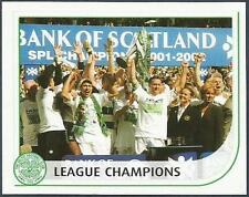PANINI SCOTTISH PREMIER LEAGUE 2003- #002-LEAGUE CHAMPION-2001-02-CELTIC