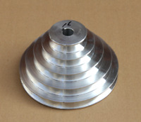 1PC 130mm Diameter-4 Step Pulley 16mm Bore-5mm keyway - Cast Aluminum [CAPT2011]