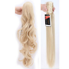 Natural Real Thick Jaw Claw Clip on in Ponytail as Human Remy Hair Extensions PA