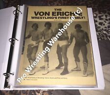 The Von Erich's,*RARE*,Wrestling Scrapbook,Vintage,World Class,WCCW,NWA,WWE,USWA