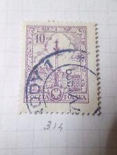 POLOGNE POLSKA, 1925-26, timbre 314, COLONNE VARSOVIE, oblitéré, VF used stamp