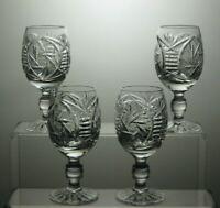ELEGANT DESIGN CUT GLASS LEAD CRYSTAL SMALL WINE /SHERRY PORT GLASSES SET OF 4