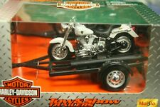 Four Harley-Davidson 1:18 Diecast Motorcycles w/Sidecars by Maisto