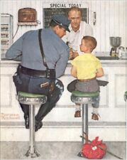 Norman Rockwell The Runaway and Police Officer Art Print size 11x14 inches 9575