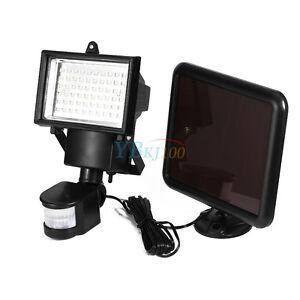 60LED Solarleuchte Solarlampe Solar Fluter Wandleuchte Infrarot-Sensor Lampe Neu