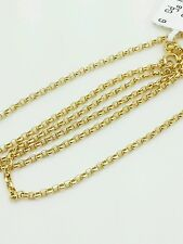 """14k Yellow Gold Round Rolo Link Necklace Pendant Chain 18"""" 1.5mm"""
