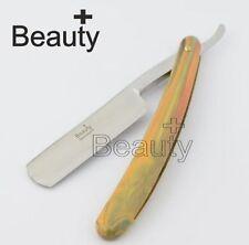 Straight Shaving Razor Cut Throat Blade Gold Barber Hairdresser Shape Up STYLING