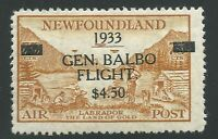 NEWFOUNDLAND C18iv MH - 1933 GEN. BALBO Air Post issue - perf 13.8