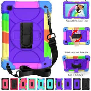Hand Shoulder Strap Rotate Case Cover For Samsung Galaxy Tab A 10.1 T510 A7 T500
