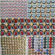 100 x Beer Bottle Tops Caps Used for craft projects etc Becks Stella Mixed