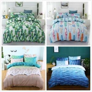 Ocean Beach Cactus Quilt Doona Duvet Cover Set Queen King Size Bedding Set 3D