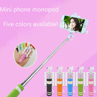 Fashion Wired Remote Shutter Mini Phone Monopod Extendable Selfie Stick Handheld