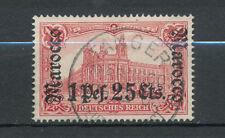 Deutsche Post in Marokko: Nr. 30 A gestempelt, geprüft