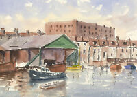 John A. Case - Contemporary Watercolour, View Towards Bedminster