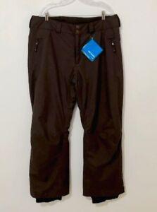 Columbia Women's Omni-Tech Techno Titanium Waterproof Brown Pants (XL) NWT