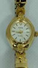 Lovely Vintage Ladies CG Designer Gold Tone  Watch CG223L New Battery
