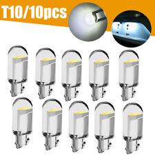 10x White LED T10 194 168 W5W Map Car Interior Trunk License Plate Light Bulb,