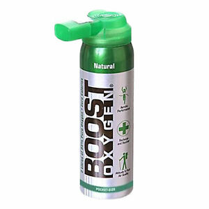 Boost Oxygen Natural Portable 2 Liter Pure Canned Oxygen Canister, Flavorless