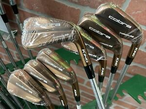 Cobra King Forged MB RF Copper Irons set 4-PW KBS Tour C-Taper 120 Stiff MRH NEW