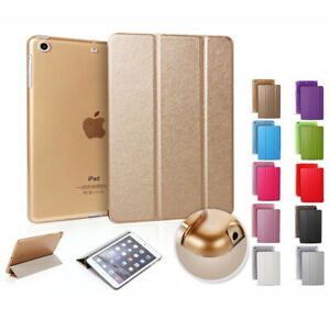"""For iPad Air 9.7"""" 6th 7th 8th 10.2"""" Pro 11 12.9 Leather Silk Fold Kickstand Case"""
