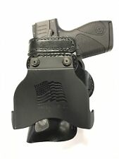 Leather Kydex Paddle Gun Holster LH RH For Glock 42 w/ Laserlyte