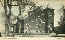 Postcard Christian Church Arcola Illinois IL pm 1913