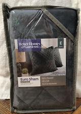 """Better Homes and Gardens Euro Pillow Sham 26"""" x 26"""" Velvet Gray *Free Shipping*"""