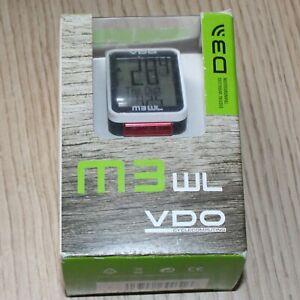 VDO M3 WL Wireless Cycle Computer Speedometer - 17 Function