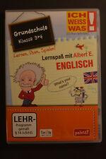 CD-ROM, Ich weiss was, Lernspaß mit Albert E.: Englisch, Klasse 3+4